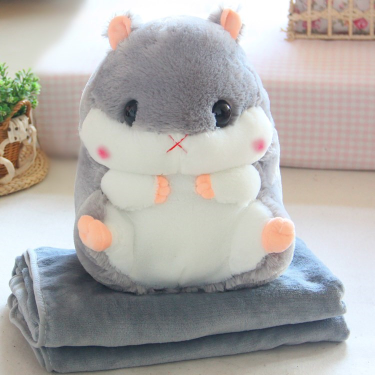 High Quality Cheap Blanket Animal Shaped Baby Plush Foldable Travel Fleece Blanket Pillow