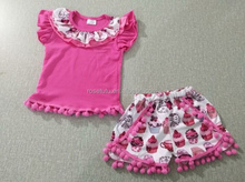2017 children suits girls clothing sets flutter top and baba exquisite shorts design outfits boutique girl clothing