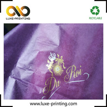 Advertising color customized 17gsm gold logo printed tissue paper