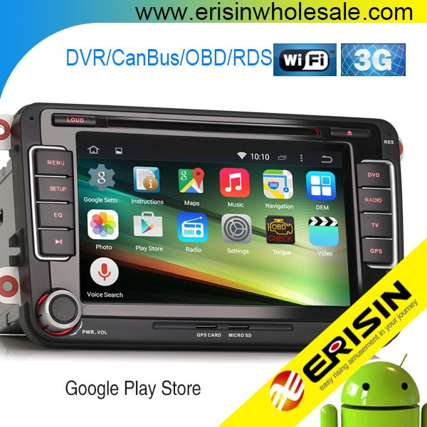 "Erisin ES2698V 7"" Android 4.4.4 Touch Screen Car DVD Player GPS for Golf 5 6"