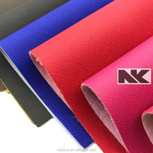 NK V006 Cross Pattern Leather PVC for handbags lady bags and belts