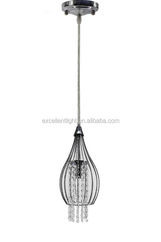 New Industrial Loft Droplight Bar Cafe hall modern Hanging Lamp Iron Crystal Pendant Light