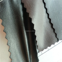 Super elastic black pu leather,artificial leather for baseball gloves DG0667