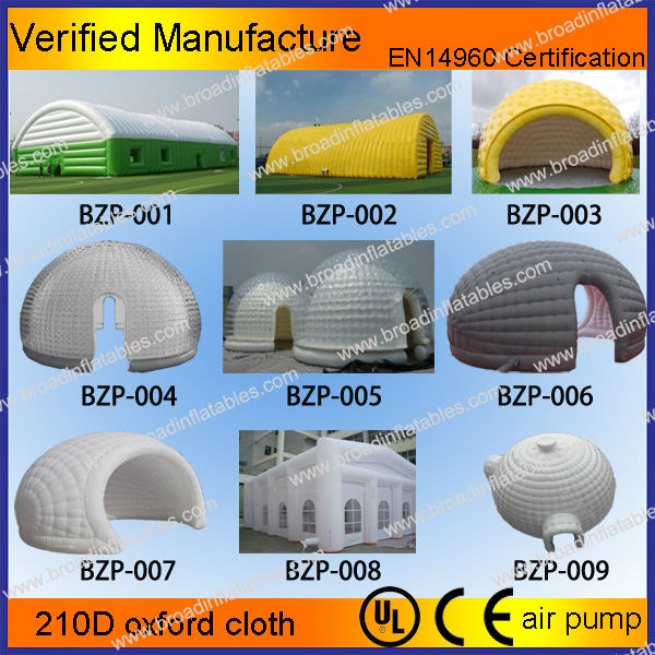 Hot selling large inflatable igloo tent,inflatable tent china,inflatable event tent