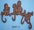 antique cast iron monkey wall hook coat hook home decor