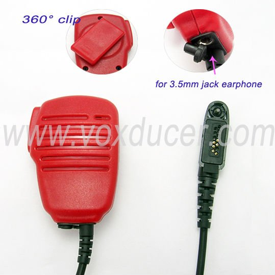 Red speaker mic for Motorola wireless radio EX500 EX600 GL2000 GP328PLUS GO338PLUS GP344 GP388 PTX760PLUS PRO5150Elite