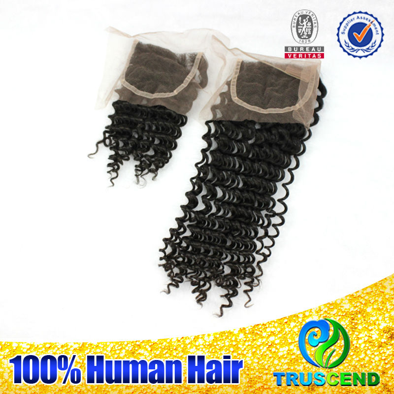 factory price 100% full cuticle truscend salon club 6A lace closure brazilian weave human hair