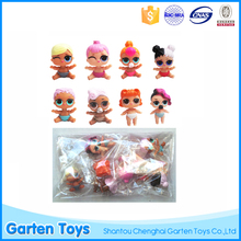 Hot selling 8pcs mini doll toys lol surprise doll toys