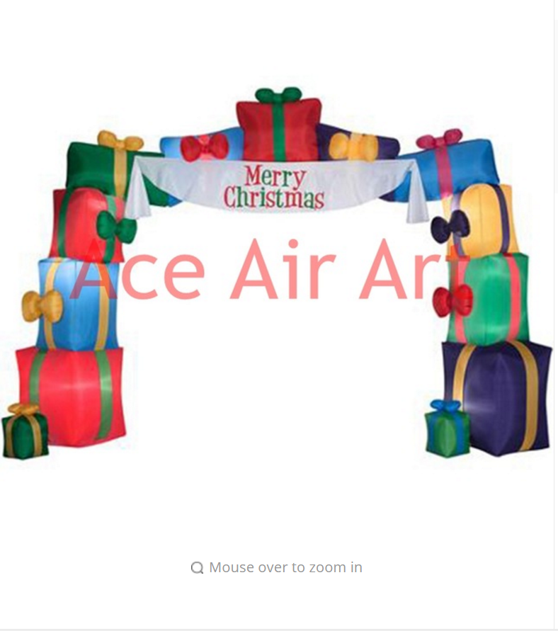 3m archway Christmas inflatable with gifts for merry Christmas