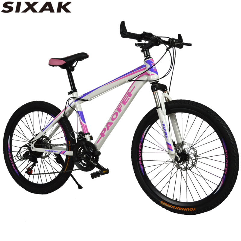 Factory wholesale 24 inch double disc brake bike 21 speed mountain bicycle for girls