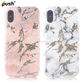 New arrival mobile IMD laser For apple iphone x case marble case shockproof for iphonex white and pink