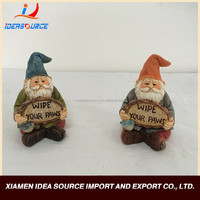 handmade resin gnome garden furniture and garden decoration for mini garden