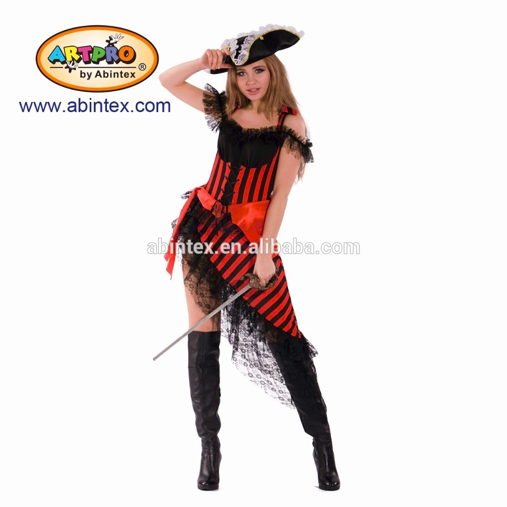 Captain Pirate costume (13-089) as sexy lady carnaval costume with ARTPRO brand