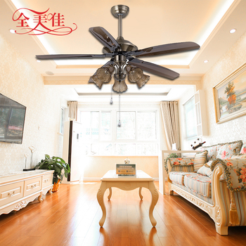 European Living Room 15W Led Remote Control DC Ceiling Fan with Ceiling Lamp