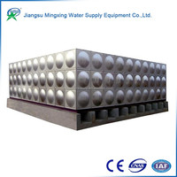 2016 New design 5000 liter no-welding sectional stainless steel water storage tank price