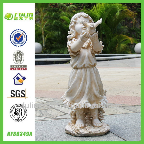 Unpainted Girl Figurine Garden Resin Baby Crafts