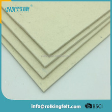 330*330*6mm 100% organic white wool felt for 8K metal polishing