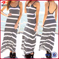 Women summer clothing manufacturers 2016 fashion stripe maxi dress