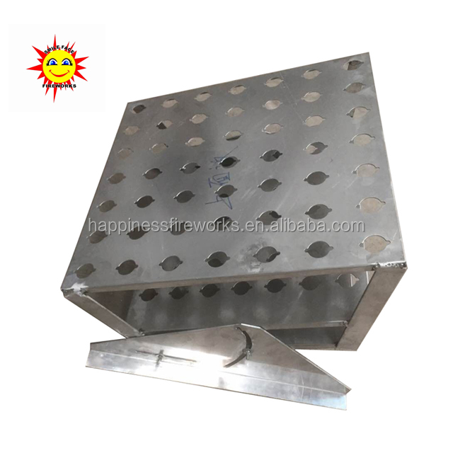 2017 New product 1.2inch (hole diameter 42mm) 7*7(49) shots Single shots fireworks pyrotechnic aluminium letter display racks