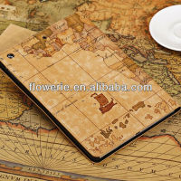 FL2705 2013 Guangzhou hot selling world map wallet pu leather case cover for ipad air
