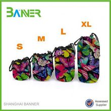Butterfly pattern waterproof neoprene lens sleeve sets soft camera cases