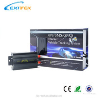 GPS RoHS TK103A GPS Car & Truck Tracking Device Vehicle Alarm System & Ultrasonic Fuel Sensors + Remote Engine Stop