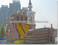 2013 pirate ship theme inflatable water slide for sale
