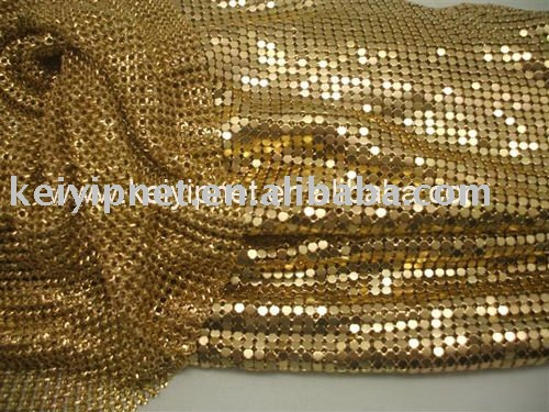 Colored Metal mesh curtain fabric