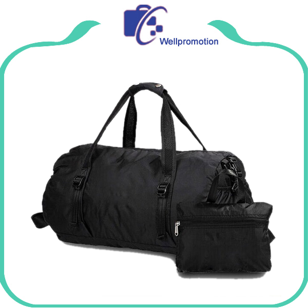 Folding travel sports bag, sports gym foldable mens travel duffel bag