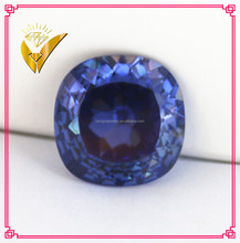 high quality tanzanite square shape natural cutting cubic zirconia