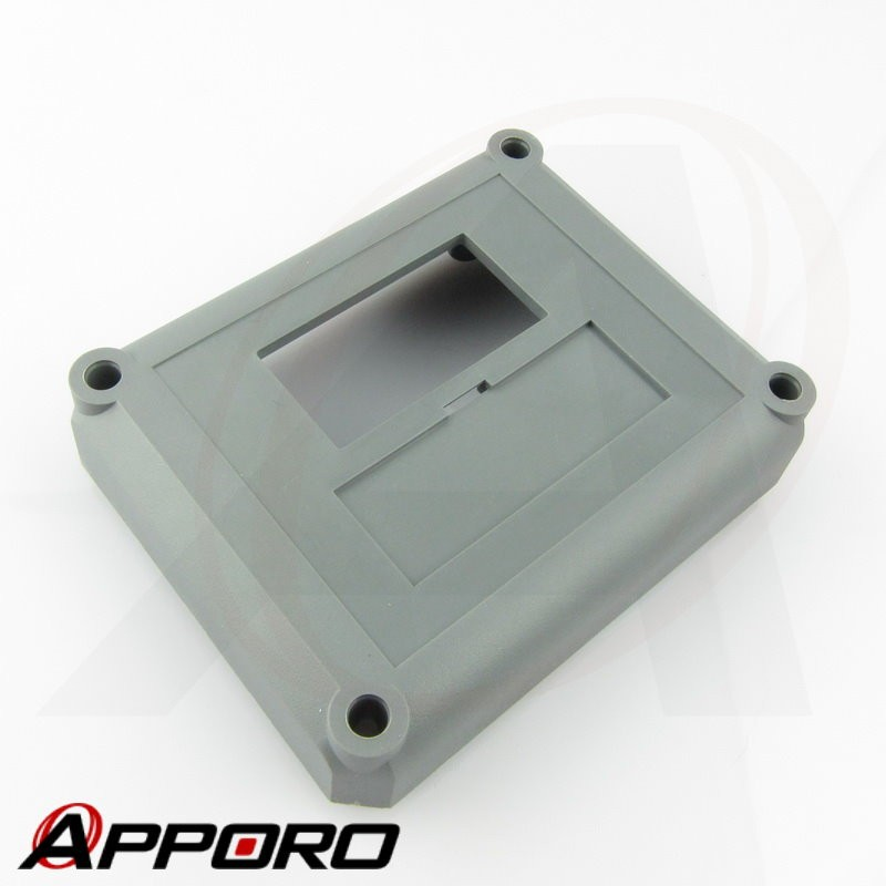 APPORO Plastic Injection Molding Pantone Cool Gray 11C Electronic Device Housing Base Cover Enclosure