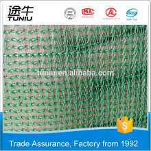 Trade Assurancer Own Factory high quality knotted / knotless construction safety net for building material PP/PE