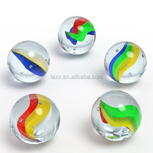 Glass Marbles mixed color, +-0.5 with flower or leave shapes