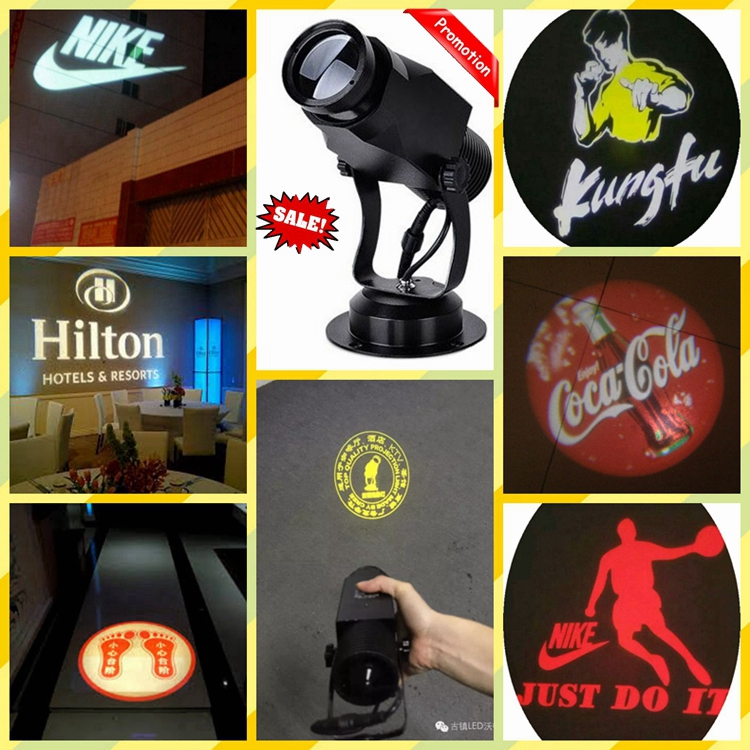 2016 Hot sale latest design static motion advertise exhibit logo projection light