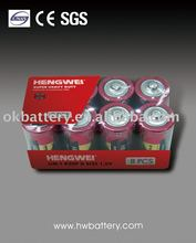 Super Power Zinc-carbon battery R20P D UM1 1.5V 8PCS/PK