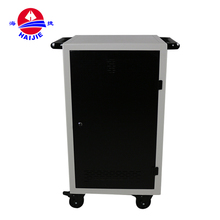Educational Equipment Four Wheels Haijie Mobile Storage Charging Cart For Laptop