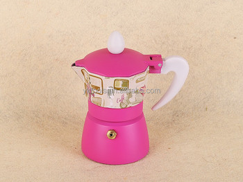 yongkang professional aluminum transfer pattern italian espresso coffee maker/moka pot/coffee maker/coffee stove