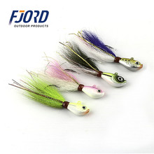 FJORD 10g to 10oz Saltwater teaser jigging lures bucktail jigs head with deer hair