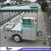 Custom design JX-HS200D hot dog push cart and shopping push cart for sale