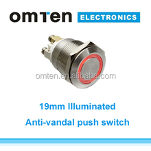 19mm Push switch for kitchen hood door switch