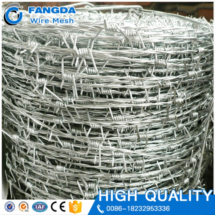 high quality double twisted Stainless Steel Barded Wire Price Per Roll