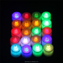 Beautiful LED Warm Soft Atmosphere Candle Light with Colorful Packing