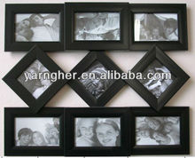 "black ""5x7"" 4x6"" multi unique plastic wall hanging photo frame"