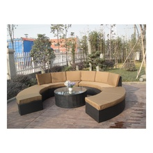 White Or Brown Or Customized Rattan Effect Garden Furniture