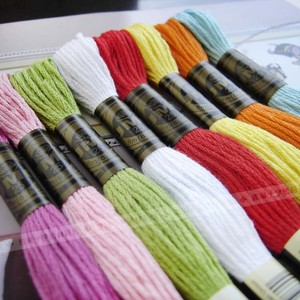 DMC colors cross stitch floss 100% cotton thread embroidery thread