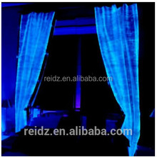 China new product led supplier cheap widow curtain white pink velvet Flame Retardant fiber opitc light fancy curtain