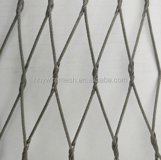 Metal 316 stainless steel wire rope mesh zoo mesh