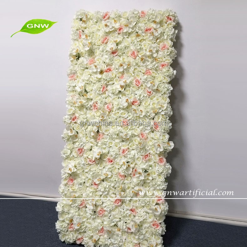 GNW FLW601001 Orchid Rose Hydrangea Artificial Flowers Backdrop Wall Wedding Party Decoration