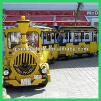 Entertainment kids ride shopping mall trackless train for sale