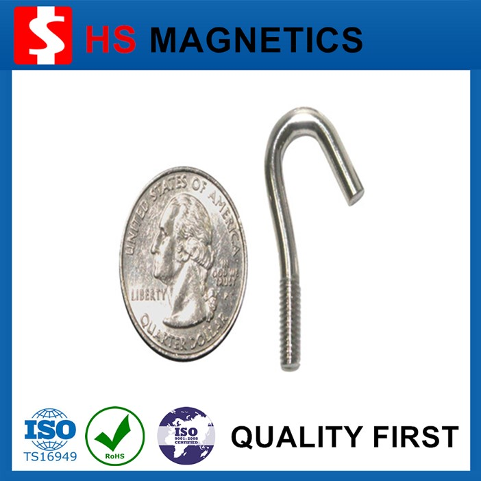Office Magnet Neodymium Magnetic Hooks, Countersunk Holes Screws Hooks Pot Magnets
